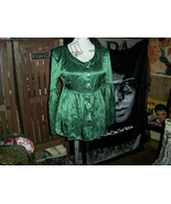 STUDIO M Beautiful Forest Green Silk Blouse Size M - $13.86