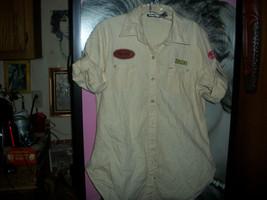 Planet Gold  Cool Khaki Button Down Shirt Size L - $11.88