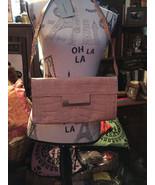 PRESS & BASTYAN  Charming Peanut Croc Print Leather Handbag NWT - $21.78