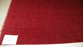 Cranberry Red Chenille Upholstery Fabric 1 Yard  R203 - $27.41
