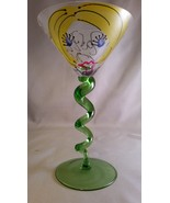 Handpainted Martinis with a twist by Leslie's Hand Painted Glass - $30.00