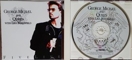 George Michael and QUEEN w/ Lisa Stansfield Five Live 1993 CD - $9.95