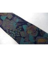 Geoffrey Beene Neck Tie 100% Silk Turquoise Navy Blue Teal Plum Hand Mad... - $24.00