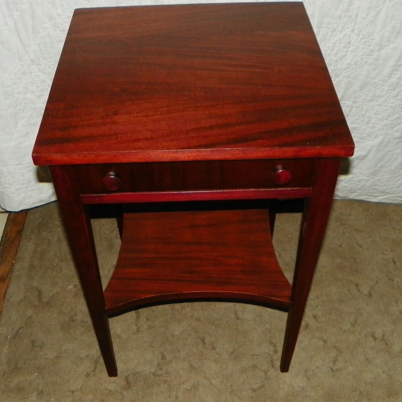 Primary image for Mahogany Side Table / End Table with Drawer  (T155)