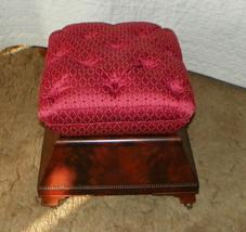 Mahogany Victorian Footstool / Stool  (ST60) - $483.53