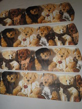 CUSTOM PHOTOGRAPHIC FLUFFY TEDDY BEARS **CEILING FAN** CUSTOM DECORATED - $99.99