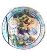 Suncatcher Cat Frog EAT A BUG Hand Made Glass By Edenborough Brand - £5.77 GBP