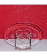 Love Birds Kissing Plaque Stand Beveled Glass Collectible Home Decorative - $9.99