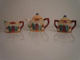Vintage 1950's Glass Ceramic Cottage Ware  Hallmark: Occupied Japan Tea Set - $32.49