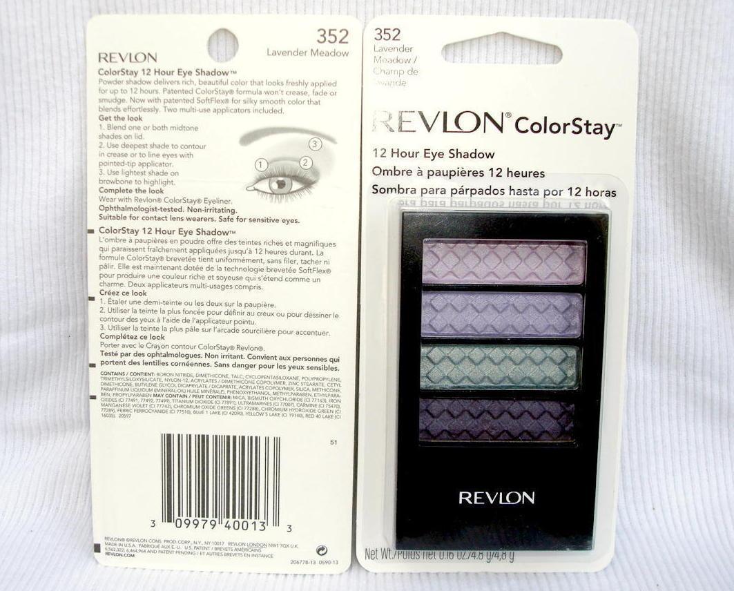 Revlon ColorStay Eyeshadow Quad 2Pack Lavender Meadow No 352