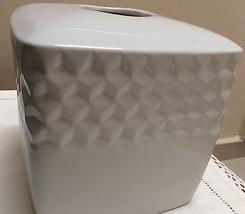 Tissue Box Cover Cynthia Rowley Light Ivory - $18.00