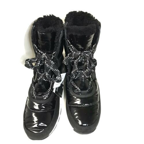 Primary image for Sorel Whitney Short Lace Black Winter Boot Waterproof Womens Size 9.5 LL3433 010