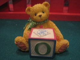 Cherished Teddies Bear with ABC Letter Block O - $4.94