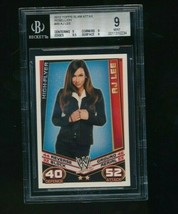 2012 Topps WWE Slam Attax Rebellion AJ Lee  BGS 9 - $65.00