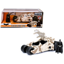 The Dark Knight Batmobile with Batman Diecast Figure Camouflage Version DC Comic - $38.87