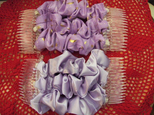 Decorative Ribbon Hair Combs - Lavenders Bonanza
