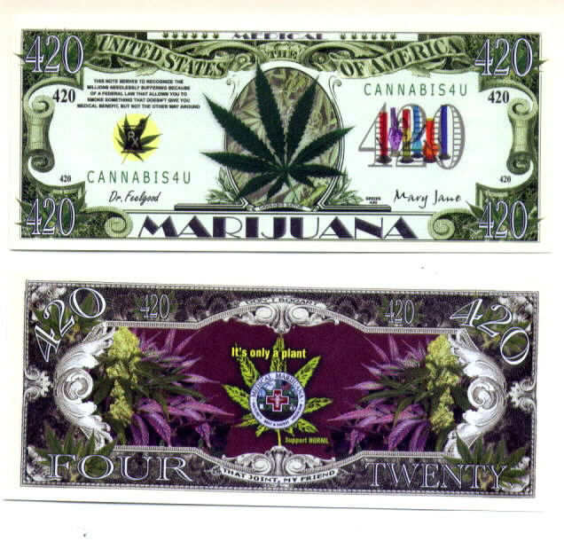 Marijuana Novelty Money Bills NEW