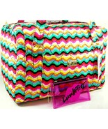 Betsey Johnson Weekender Luggage Bag Lunch Tote Cosmetics Pouch 3 Piece ... - $148.49