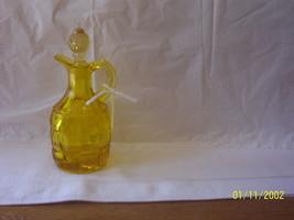 Yellow Block Pattern Cruet  Viking? - $19.80