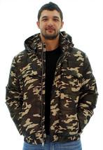 Andrew Marc New York MM3AD994 Men's Brown Camo Puffer Hood Hunter Jacket... - $79.99