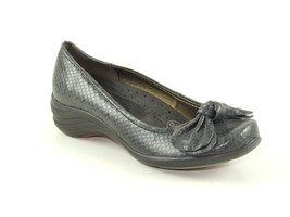 HUSH PUPPIES Ave Womens Black Grey Snake Print Pump Loafers Flats Shoes -6 - £30.41 GBP