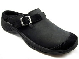 Merrell Encore Buckle Womens Black Suede Leather Clogs Shoes 6 J68528 - $47.99