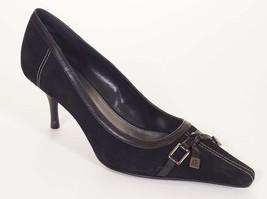 Etienne Aigner Paulette Womens Black Suede Leather Pumps Heels Shoes 6.5 M - $39.99