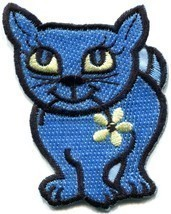 Kitty cat kitten retro applique iron-on patch new S-210 - $59,72 MXN