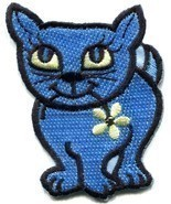Kitty cat kitten retro applique iron-on patch new S-210 - $55,56 MXN
