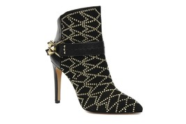 Sam Edelman Mila Womens Black Suede Leather Bootie Ankle Boots Heels Sho... - $139.99