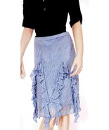 Ralph Lauren Blue Label Womens Italian Yarn Silk Linen Lined Knee Skirt S - $111.99