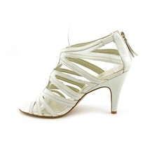 Nine West Womens Elaine White Ankle Strap Open Toe Sandal Heels Shoes-10 - $65.99
