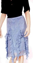 Ralph Lauren Blue Label Womens Italian Yarn Silk Linen Lined Knee  Skirt M - $111.99