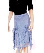Ralph Lauren Blue Label Womens Italian Yarn Silk Linen Lined Knee  Skirt M - $111.99