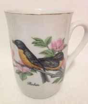 John James Audubon Robin Bird Coffee Cup - $6.97