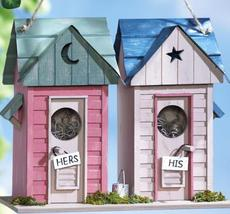His & Her Outhouses Decorative Birdhouse - $21.75