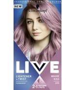 2x Schwarzkopf Live Permanent Hair Colour Lightener Pastel 105 MAUVE KIS... - $24.73
