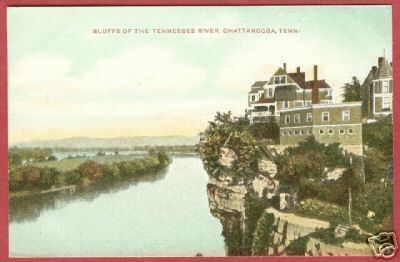 Primary image for CHATTANOOGA TN Bluffs Tennessee River Postcard BJs