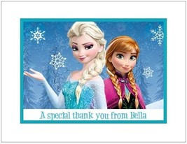 Frozen #6 ~ Personalized Note/Thank You Cards - $13.75