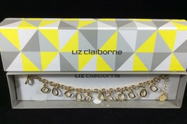 Liz Claiborne Bracelet Gold Tone Fashion One Size New In Box - $19.75