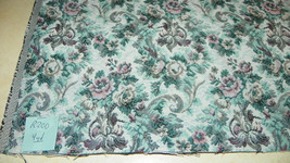 Turquoise Burgundy Flower Print Tapestry Upholstery Fabric 1 Yard R200 - $41.13