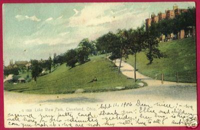 CLEVELAND OHIO Lake View Park 1906 UDB Rotograph OH