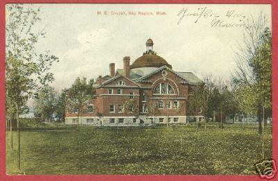 BIG RAPIDS MI M E Church Michigan 1908 BJs