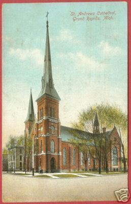 Primary image for GRAND RAPIDS MI St Andrews Cathedral Michigan 1909 BJs