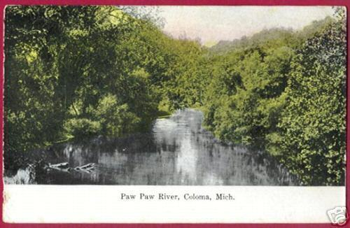 Primary image for COLOMA MICHIGAN Paw Paw River MI 1916 BJs
