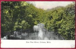 COLOMA MICHIGAN Paw Paw River MI 1916 BJs - $6.50