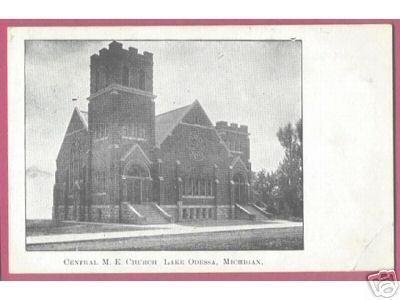 LAKE ODESSA MICHIGAN Central M E Church UDB 1908