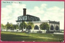 PORT HURON MICHIGAN Water Works 1910 MI - $6.50