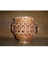 "Wicker Basket with Round Handles , Beautiful Design , 6 "" tall - $20.00"
