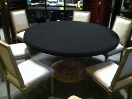 Felt Poker Tablecloth   BLACK Game Table Cover   Fit 36u0026quot; Round Table    E